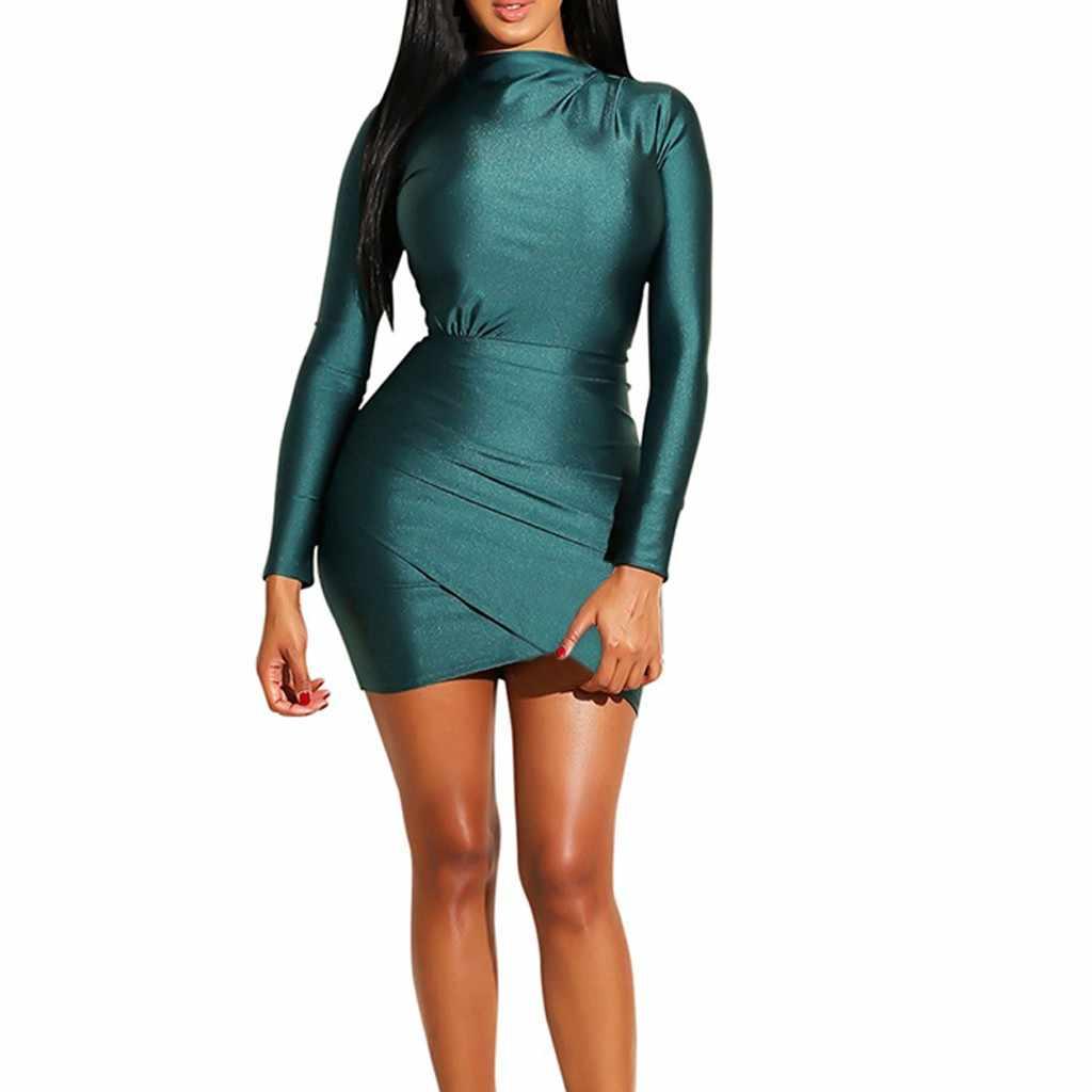 Verde vestido de lentejuelas vestido de las mujeres Sexy vestidos de Club  de Slim Fit vestido 515693c8315d