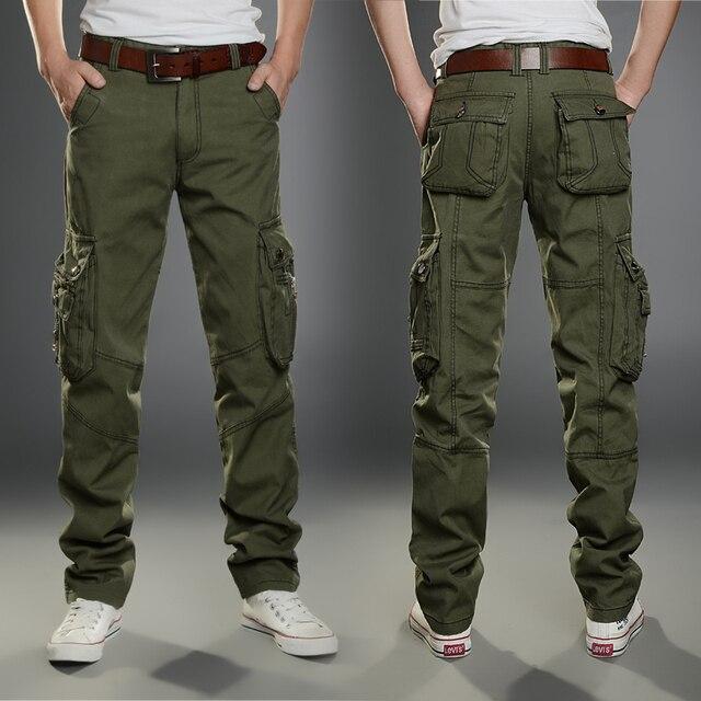 71ab5ceafd 2016 Nuevo Hombre de Los Hombres de Camuflaje Pantalones Cargo Masculino  Trajes Pantalones Tácticos Militares Pantalones