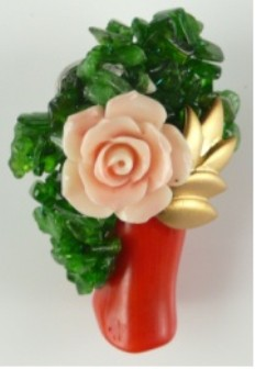 Fashion Jewelry Coral Brooch Pins Jewelry Free Shipping Coral With Flower Brooch цена