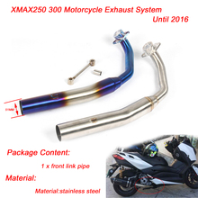 XMAX250 XMAX300 Motorcycle Front Link Pipe 51mm Stainless Steel Exhaust System Until 2016