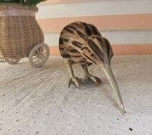12cm kiwi bird hard model polyethylene furs handicraft Figurines Miniatures home decoration toy gift a2877