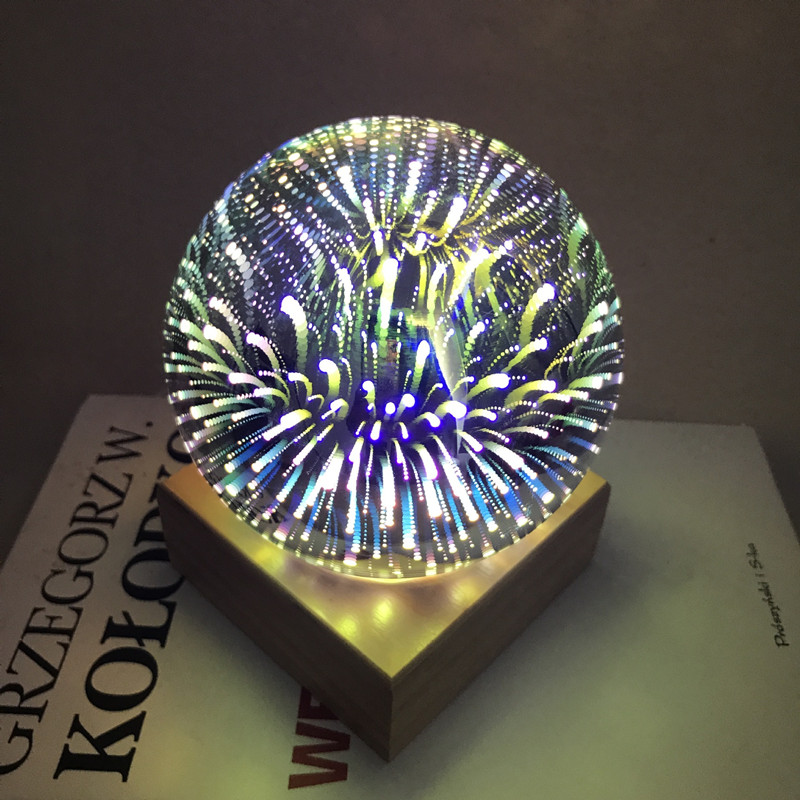 Magic 3D Glass Ball Star Fireworks Night Light USB Lanterns LED Round Ball Table Lamp for Kids Bedside Home Christmas Decoration велотренажер star fit bk 101 magic