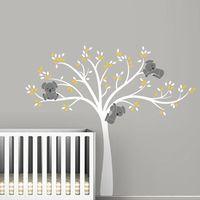 Large Size Bear Tree Wall Sticker For Kids Koala Cartoon Nursery Daycare Baby Room Vinyl