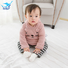 M&F Girls Coat Winter Autumn Cartoon Baby Girl Lovely Princess Jackets Long Sleeve Thick Warm Outerwear Clothes For Infant Girls