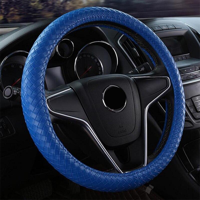 ZHIHUI car steering cover micro fiber leathe 38CM for Audi A1 A3 A4 A4l A5 A6 A6L A7 A8 Q3 Q5 Q7 S and RS series