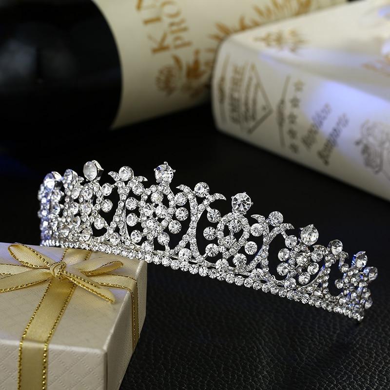 New Bride Wedding Hair Jewelry Crystal Tiara Bridal Crown Fashion Accessories Wholesale
