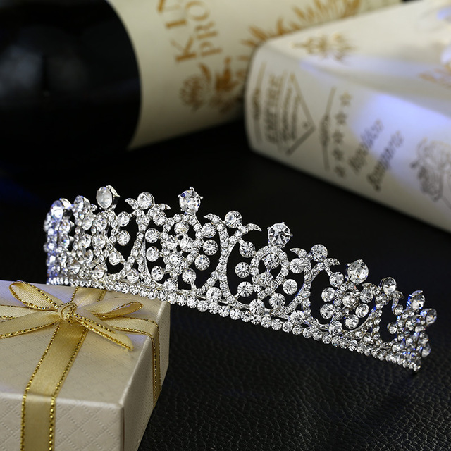 new bride wedding hair jewelry crystal tiara bridal crown crystal fashion access