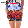 KISSyuer Quick-drying Leopard Abstract water drop Impressionism colored drawing Ladies short women board shorts KBS1006