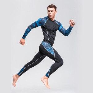 الرجال ضغط قميص هزيمة اللياقة البدنية الملابس الداخلية طماق الرجال الملابس عرق الدعاوى الركض دعوى رياضية MMA rashgard الذكور