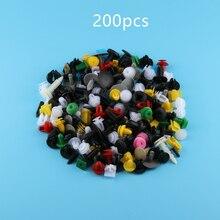 200pcs/set Universal Mixed Auto Car Various Plastic Rivet Fastener Push Pin Bumper Fender Panel Car Accessories