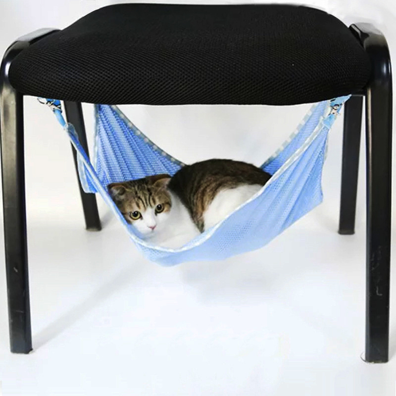 Summer Cute Cats Hammock Portable Pet Cats Breathable Mesh Hammock Multifunctional Tapestry Swing Pets Cage AccessoriesSummer Cute Cats Hammock Portable Pet Cats Breathable Mesh Hammock Multifunctional Tapestry Swing Pets Cage Accessories