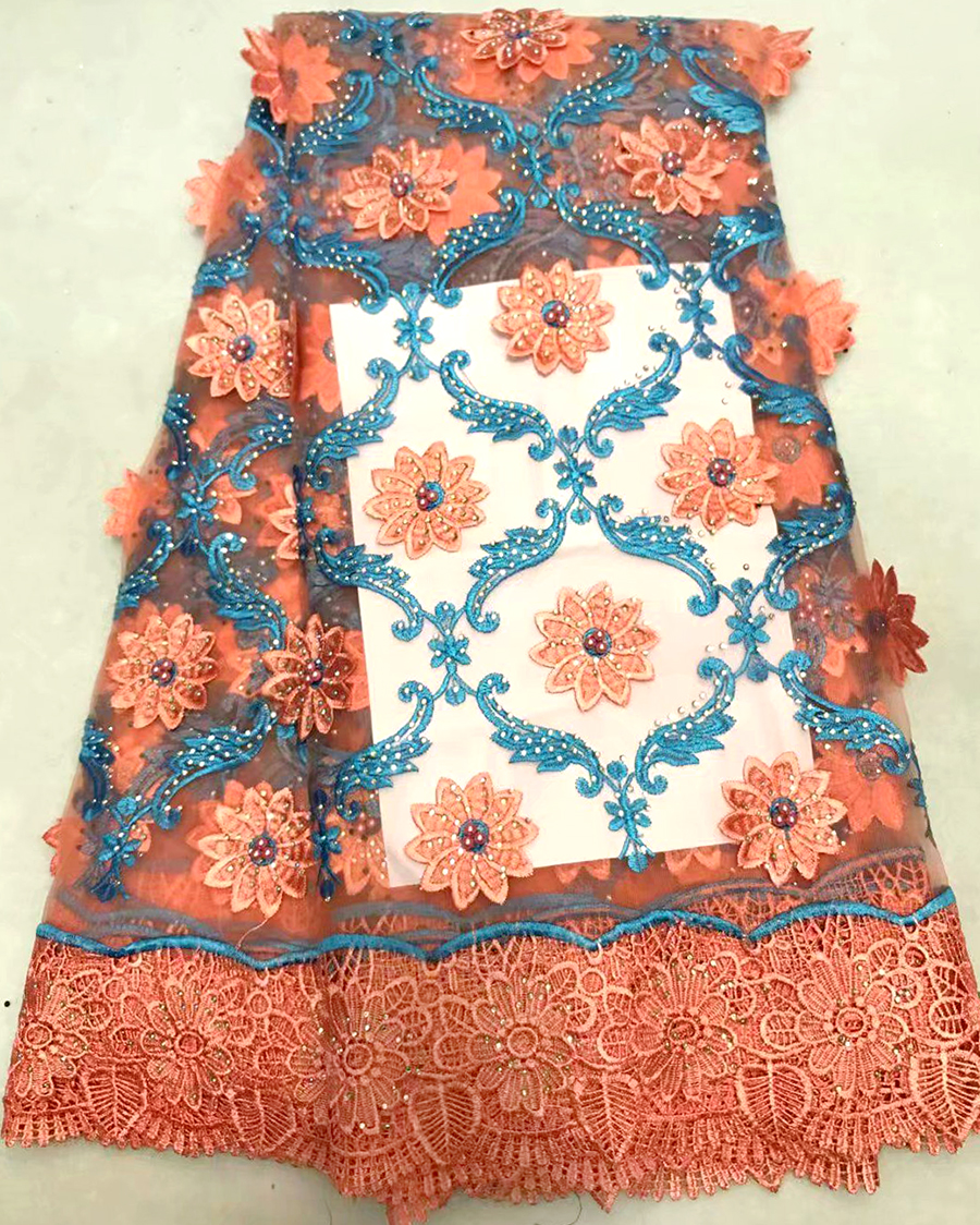 Best Quality African Lace Fabric Teal Swiss Voile Lace High Quality Embroidery French Mesh 2017 Nigeria Lace Fabric Material