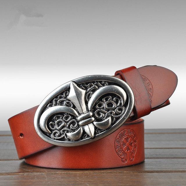 2016 Nueva Moda Suave Cinturón de Hebilla de Correas de Los Hombres Cinturones de Diseñador Hombres de Alta Calidad de Lujo 100% Cuero Genuino Cinturones Hombre