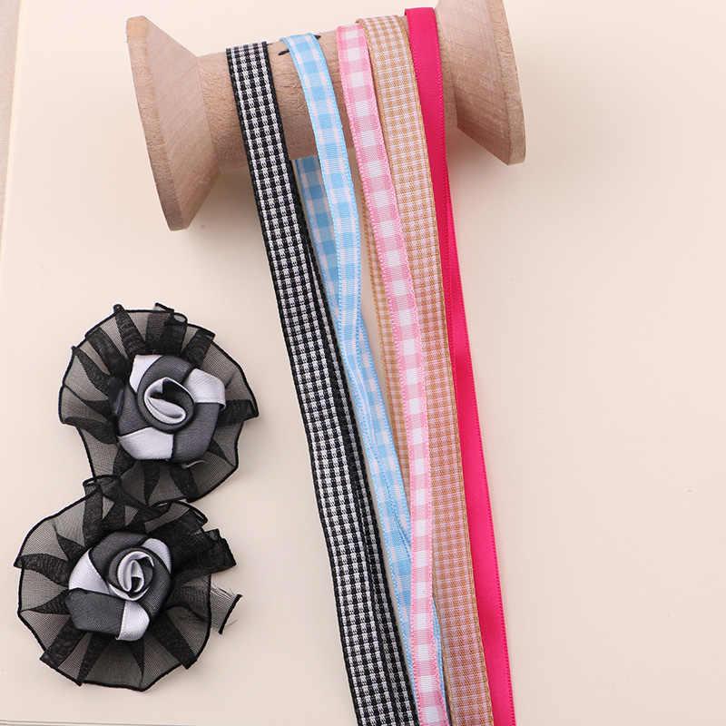 2YARD 0.7 MILLIMETRI-1 CM Beige nastri di imballaggio, premio regalo scatole nastri decorativi, fatti a mano FAI DA TE arco cravatte