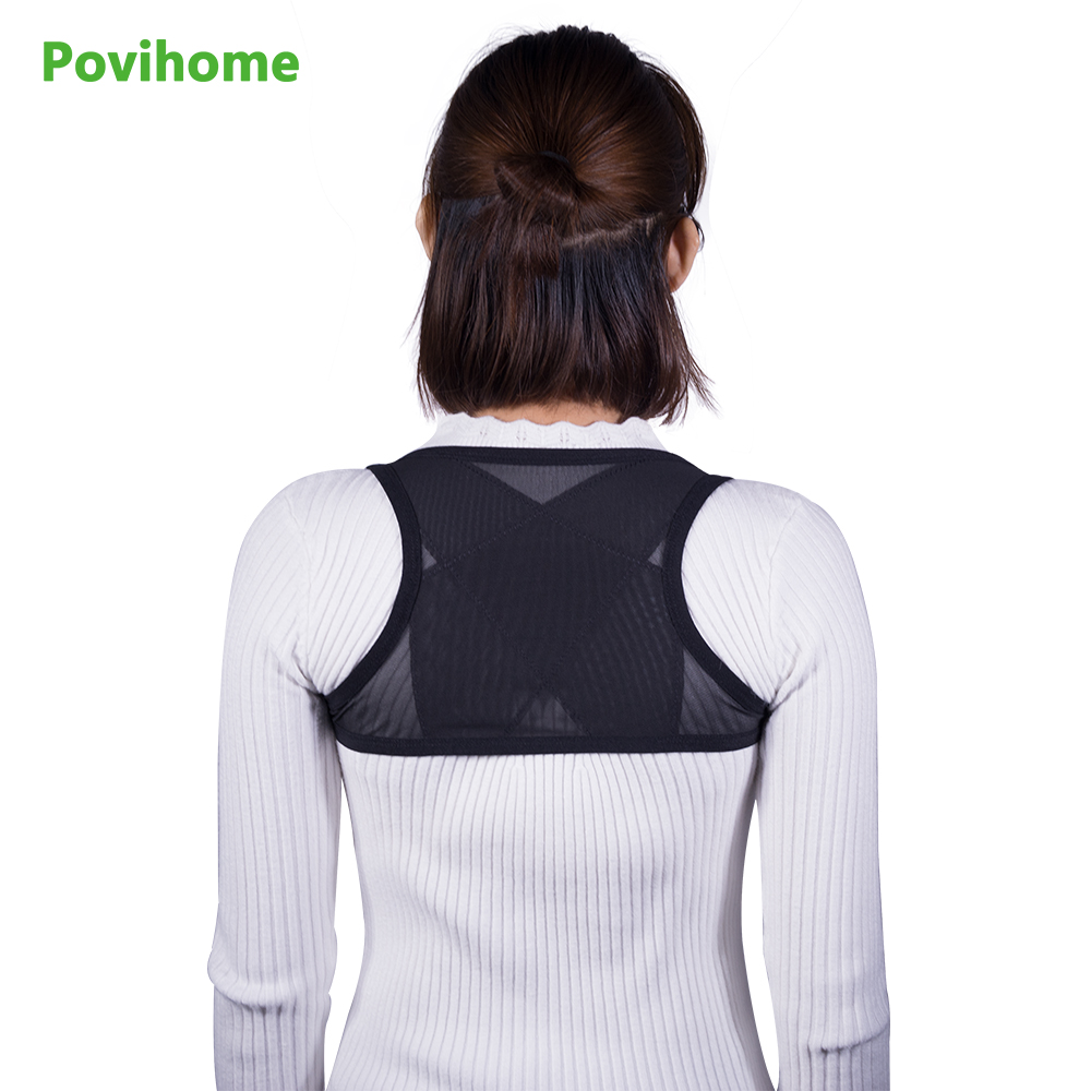 Female Women Upper Back Brace Support Belt Band Posture Corrector Back Shoulder Humpback Prevent For Health Z8001