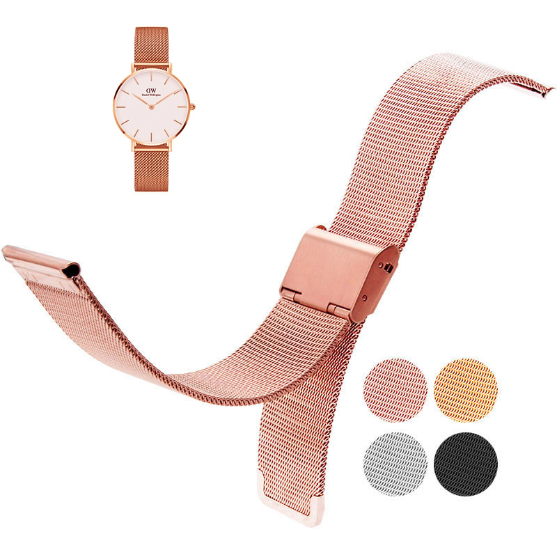 18mm 20mm Milanese for DW (Daniel Wellington) Watch Strap  rose gold Stainless Steel Bracelet fit DW 36 40mm The dial strap
