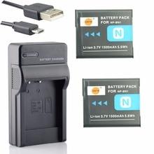 DSTE 2pcs NP-BN1 np-bn1 Battery Case Protector + UDC95 USB Charger for Sony DSC-W360 W380 W390 TX100 T110D T110 TX9C TX7C TX55