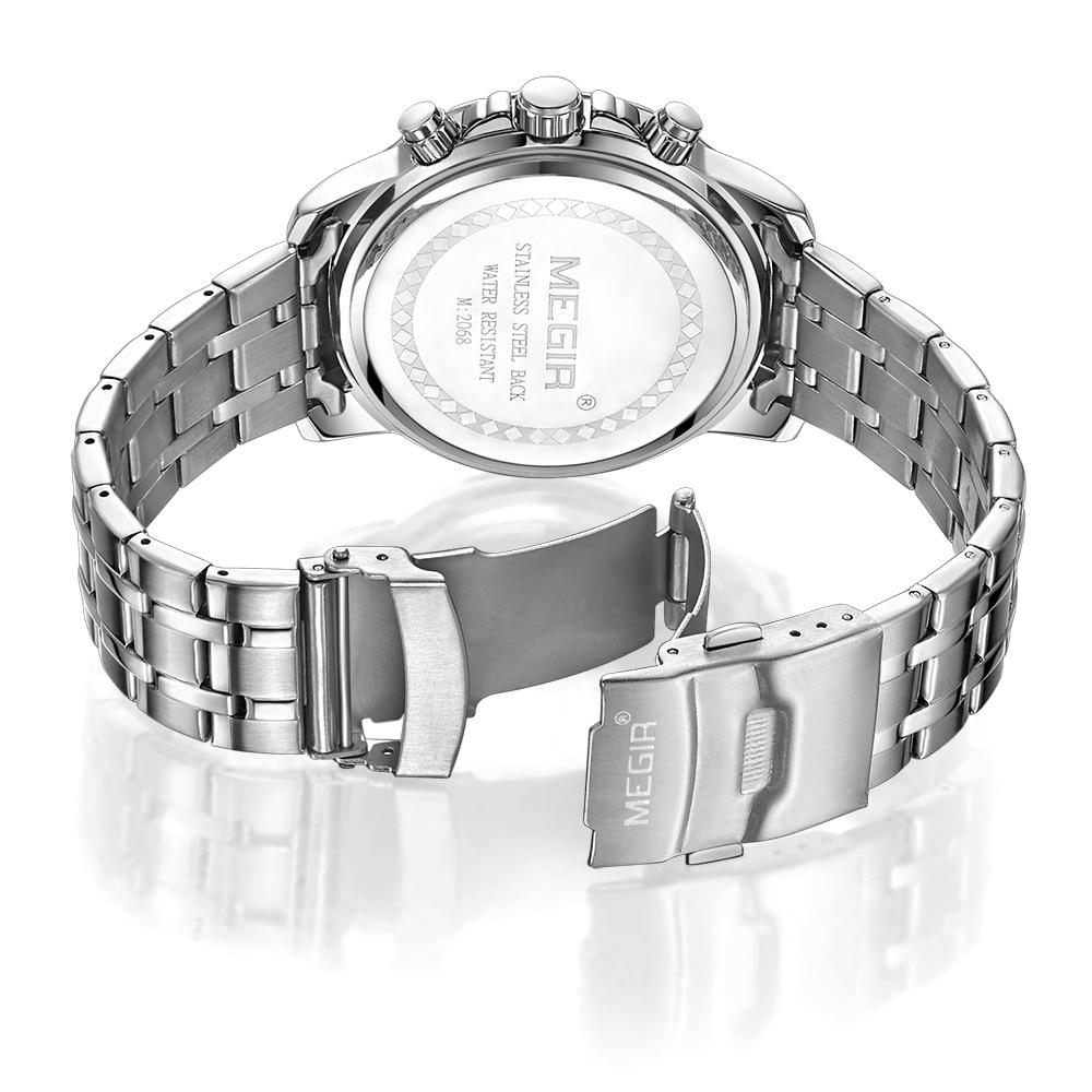 MEGIR Chronograph Quartz Men Watch Top Brand Luxury Army Military - Zegarki damskie - Zdjęcie 3