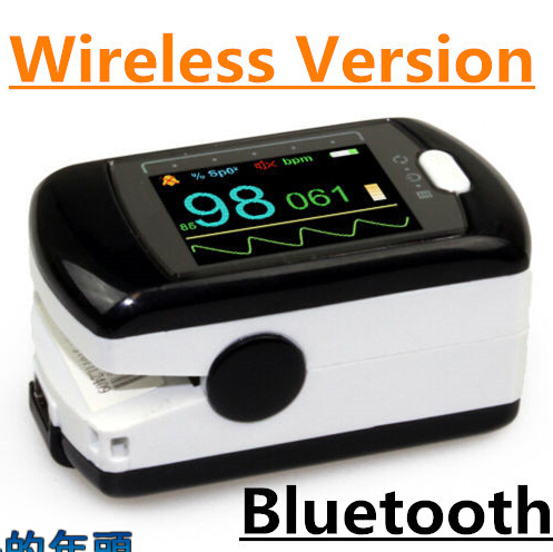 цена на 17 NEWCMS50EW Bluetooth Wireless Finger tip pulse oximeter Blood Oxygen Saturation Monitor CMS50EW With USB Software OLED Screen