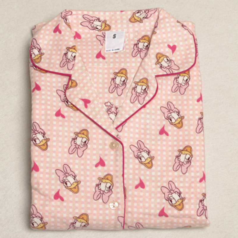 New arrival women   pajama     sets   candy color with cute ducks printed sweet pyjamas top quality for ladies