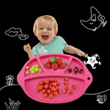 Children Portable Silicone High Temperature Resistance Oven Dining Plate Place mats Kids Suction to Dining Table(China)