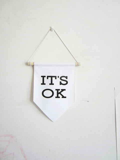 it\'s ok canvas banner,motivation wall quote,Nursery decor wall ...