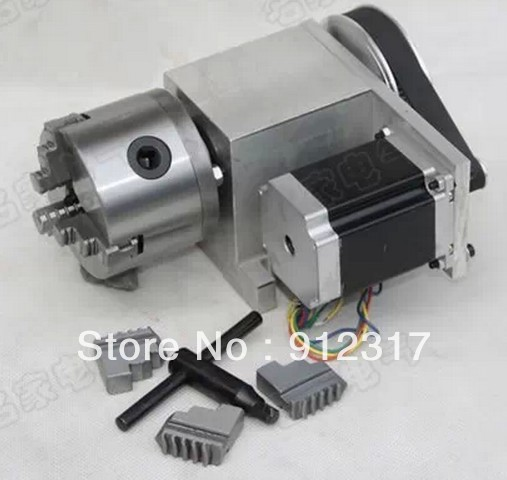 CNC Rotary axis,the A axis, the fourth rotation axis, K11 80mm  three claw chuck 6:1 cnc 5 axis a aixs rotary axis three jaw chuck type for cnc router