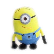 Kawaii Миньоны маленький желтый человечек плюшевые игрушки для детей мягкие животные Дети кукла подушки Детские День рождения Рождественский подарок дропшиппинг