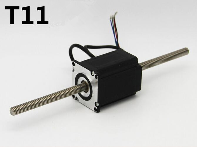 57mm step motor Linear stepping Motor Screw micro stepper motors through T11mm screw rod 1.8 degree step angle ce certification 0 9 step degree nema14 round stepper motor with 8 8n cm 12oz in length 20mm ce cnc step motor