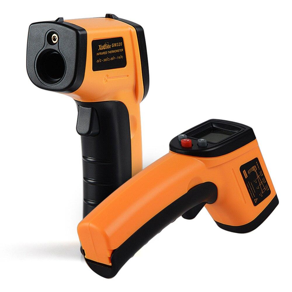 GM320 láser LCD Digital de infrarrojos termómetro medidor de temperatura arma Punto-50 ~ 380 grados no termómetro de contacto