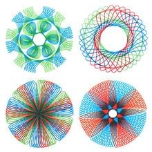 Креативная Четырехцветная волшебная доска для рисования, многоцелевой шаблон для рисования, линейка, Обучающие канцелярские принадлежности, постоянно меняющиеся