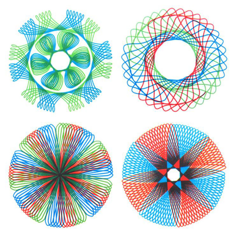 Exquisite Spirograph Magic Turtle Rabbit Drawing Board Kids Educational Toy For Painting Supplies C26 Drafting Supplies