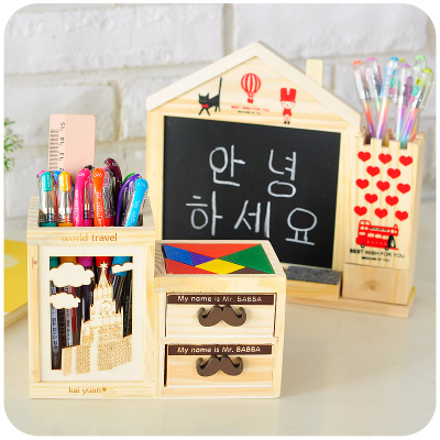 Popular wood pencil holder buy cheap wood pencil holder - Cheap desk organizer ...