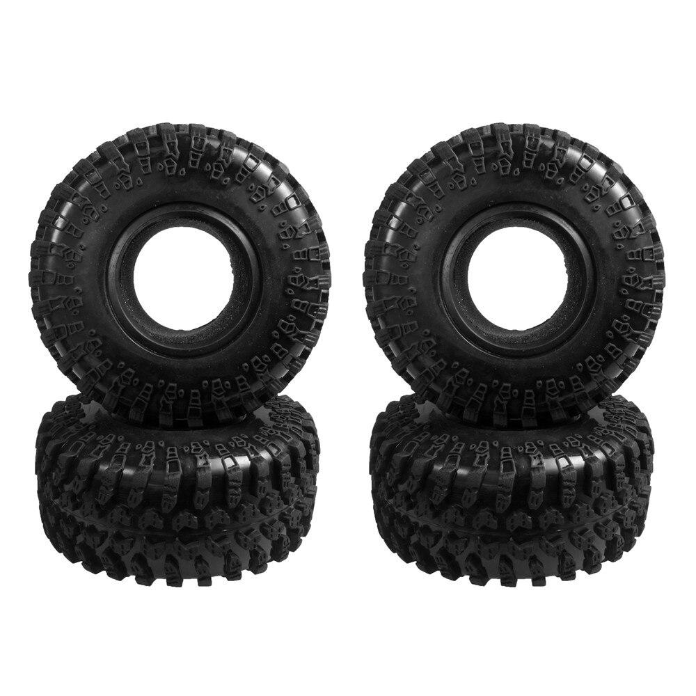 4pcs 130MM 2.2 Rubber Rocks Tyres / Wheel Tires for 1:10 RC Rock Crawler Wheels SCX10 RC4WD D90 D110 4pcs 3 2 rubber rc 1 8 wheels