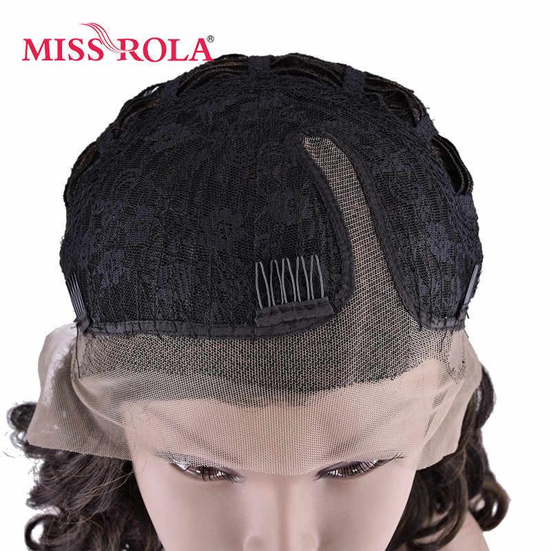 Мисс Рола вьющиеся синтетический Синтетические волосы на кружеве парик 4/30 #2-14 дюймов средней длины волос Искусственные парики для Для женщин Kanekalon высокой температура Волокно