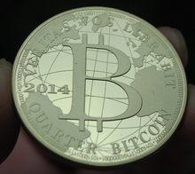 40mm 2014 kwartału fizyczne bitcoiny pozłacany MEDAL pamiątkowej monety