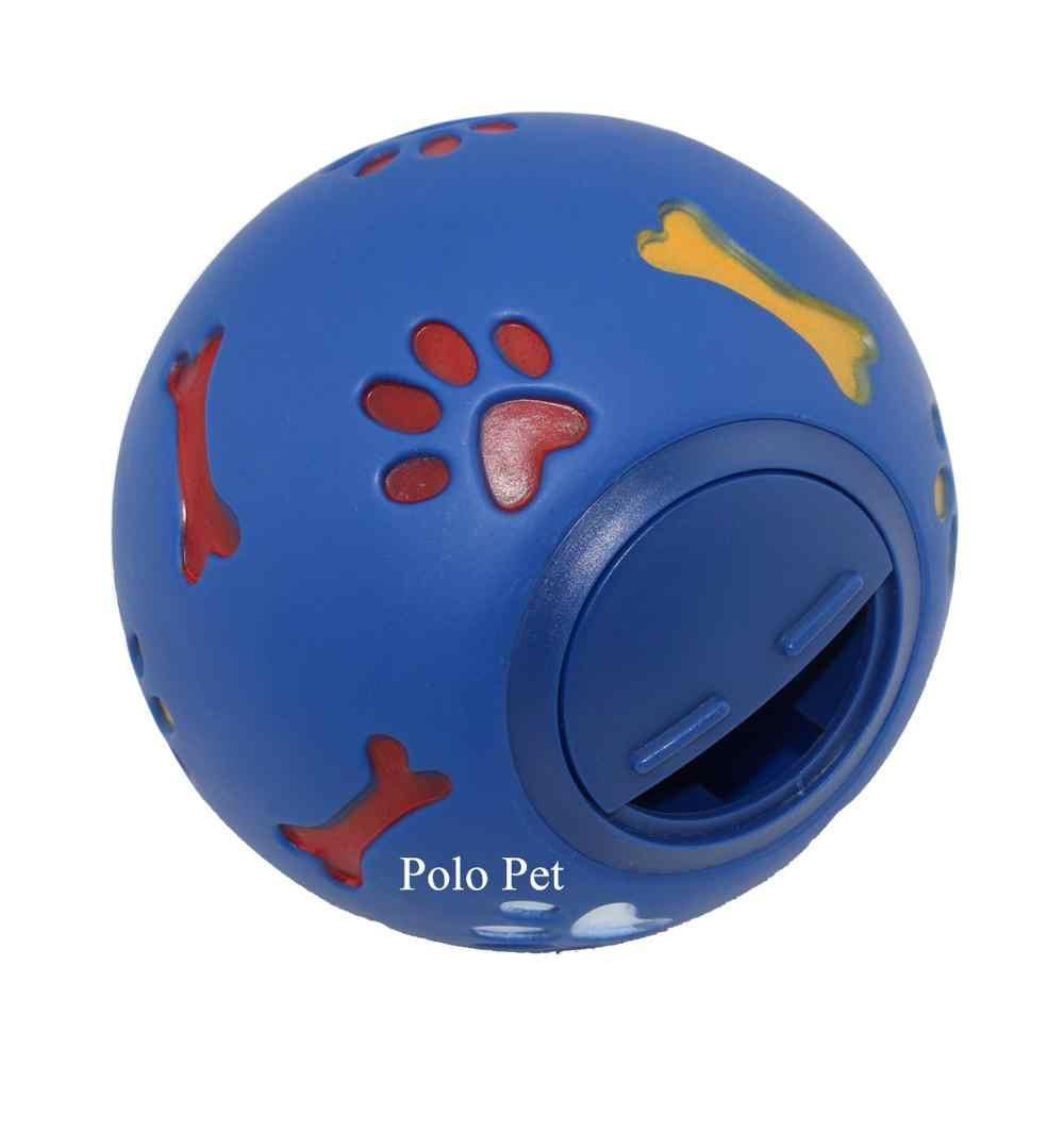 3 Size Educational Interactive Pet Dog Toys Adjustable Opening Ball Puppy Chew Toys Paw Bone Print Dog Treats Dispenser