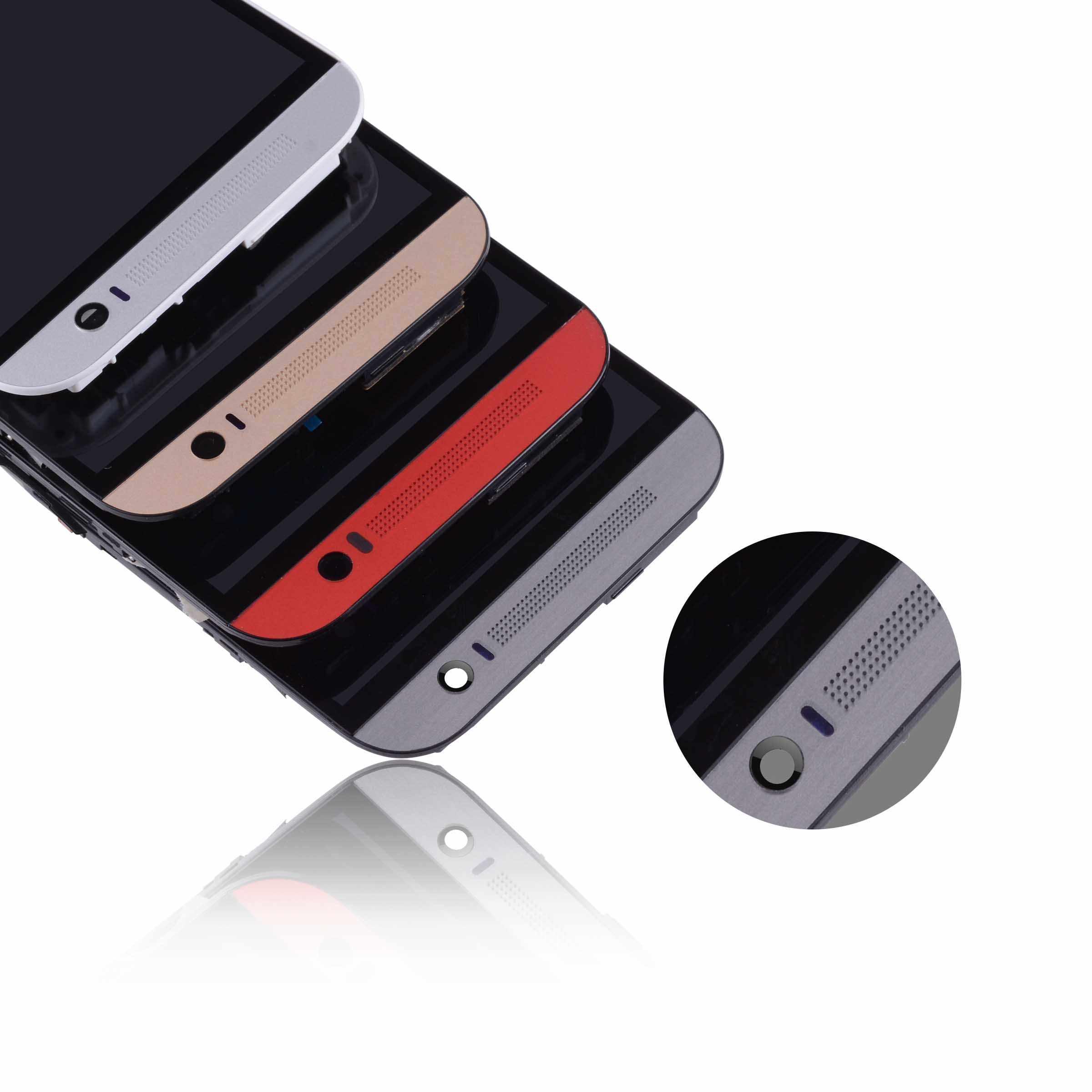 5.0 بوصة شاشة الكريستال السائل مع الإطار ل HTC واحد M8 شاشة إل سي دي باللمس شاشة قطع غيار محول رقمي ل HTC M8 LCD شاشة 831C