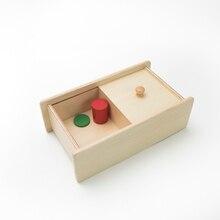 Caja Con Tapa Deslizante Kids Bebé de Juguete De Madera Montessori de Aprendizaje Preescolar Educación Formación Brinquedos Juguets