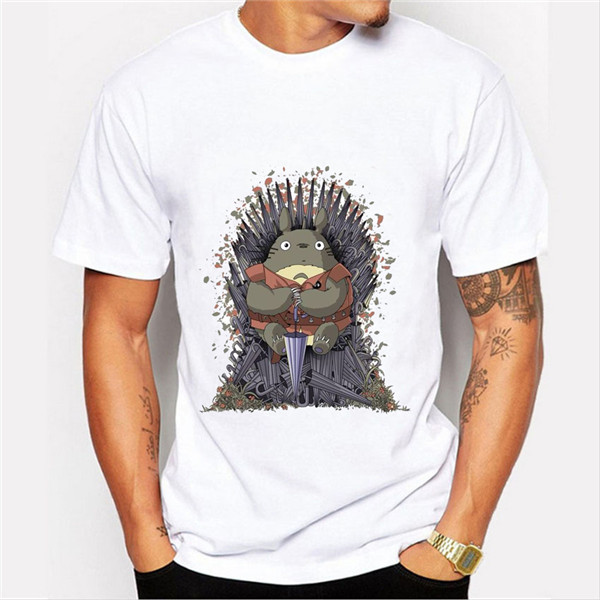 T-shirt-Men-2016-Fashion-Game-of-Throne-Design-Tee-Shirt-Funny-Totoro-on-the-Trone (1)
