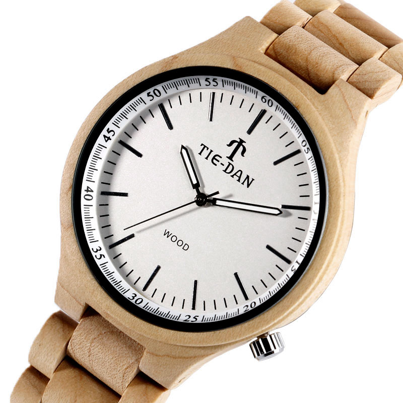 Nature Full Wooden Quartz Wrist Watch Simple Bamboo Men Women Fashion Adjustable Band Strap Trendy Hot Selling Brief Gift novel design 2015 hot sell men women quartz wrist watch fashion woman cowboy fabric band wrist watch