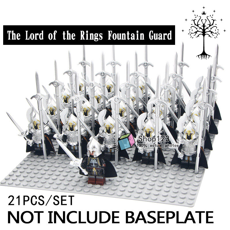 Blocks 2019 Fashion 21pcs/lot Legoing Fountain Guard Action Figure Soldier Of Game Of Thrones Spear Sword Minifigs Building Blocks Bricks Kids Toys Moderate Price
