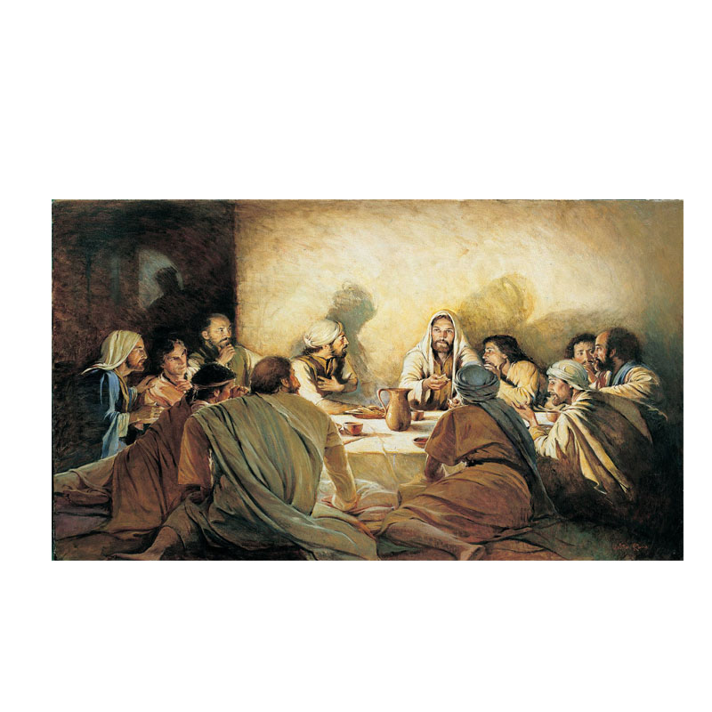 Last Supper Da Vinci Famous Oil Painting on Canvas Posters and Prints Scandinavia Nordic Art Wall