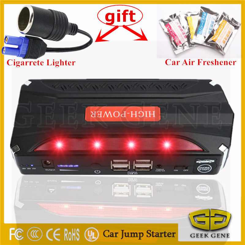 High Power Car Jump Starter Portable 12V Starting Device 4USB Power Bank Mobile 600A Car Charger For Car Battery Booster Buster car jump starter car power bank high quality mobile portable mini jump starter power battery charger phone laptop power bank