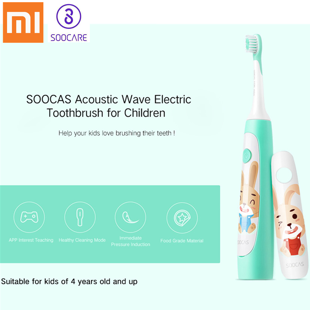 Xiaomi SOOCAS C1 Waterproof Sonic ElectricToothbrush For Kids USB Rechargeable Ultrasonic Toothbrush Dental Care Tooth Brush 31000 min sonic vibration electric rechargeable toothbrush health care ultrasonic tooth brush for kids