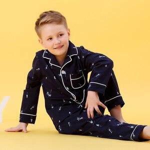 Image 4 - Kids Jongens Katoen Nachtkleding Baby Meisjes Herfst Winter Pyjama Sets Kinderen Cartoon Ondergoed Peuter Warme Slaapkamer Pyjama Pijamas