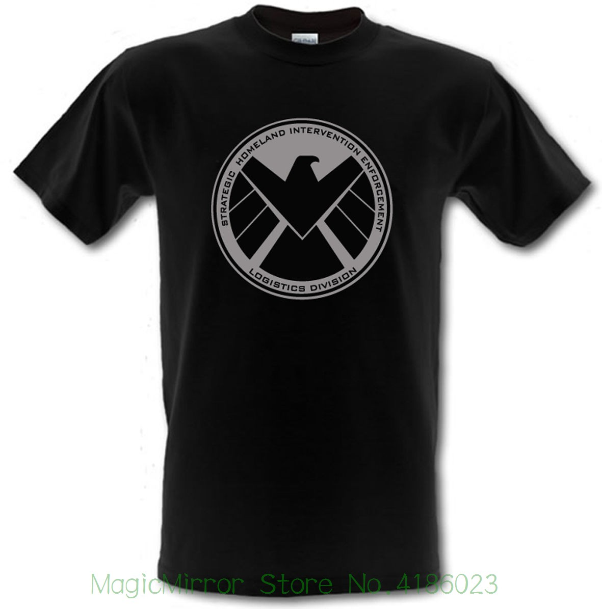 Agents Of S.h.i.e.l.d Shield Superhero Heavy Cotton T-shirt Sizes Small - Xxl Round Neck Clothes