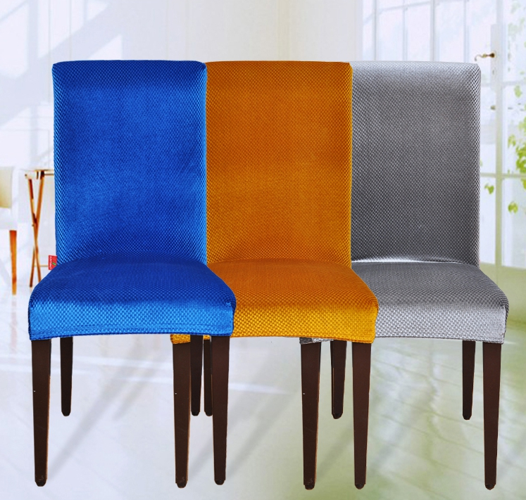 dining chair covers velvet platner lounge romanzo fabric universal elastic spandex housse de chaise office computer cover couveture in from home