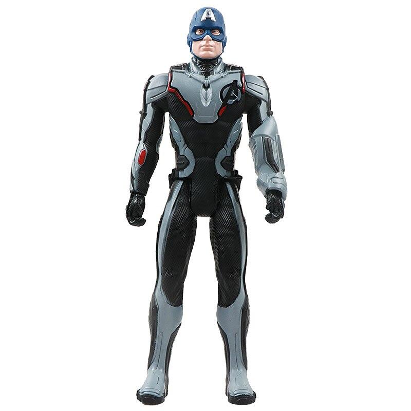 30 см Marvel Мстители эндшпиль танос Человек-паук Халк Железный человек Капитан Америка Тор Росомаха Веном Фигурка Игрушки Кукла Детская - Цвет: New captain no box