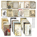 24Pcs Acid Free Colorful Retro Paper Pocket Cards for Scrapbooking DIY Projects/Photo Album/Card Making Crafts C135
